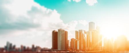 Banner of modern city skyline (Chicago, USA)