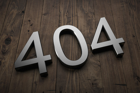 404 - Text on table. 3d rendering