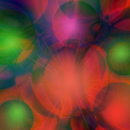 Abstract colorful background with shiny balls.   Dance of the glittering balls photo