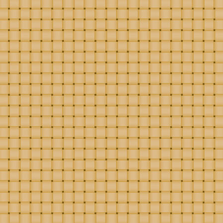 Wattled surface in yellow color. Weaving by straws. Mat.