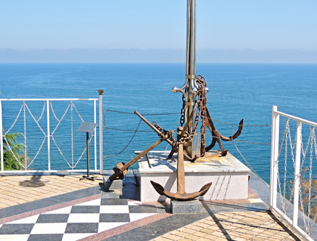 memorable: Memorable place about the sunk ships and the lost seamen. Old an anchor of the sunk ships, lifted from a bottom of the Black Sea.