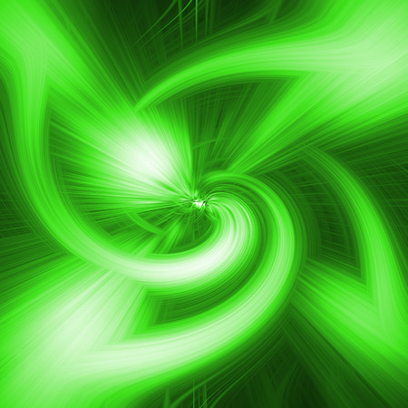 Abstract illustration. The abstract image in green, white and dark colors.