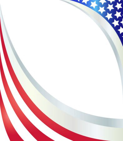 USA flag Abstract with empty space. Ilustração