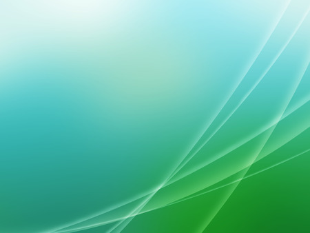 Blue green abstract wave background with white transparent stripes.