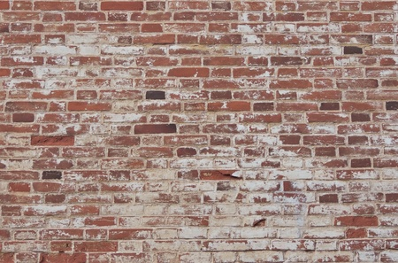 Old dirty red brick wall background.