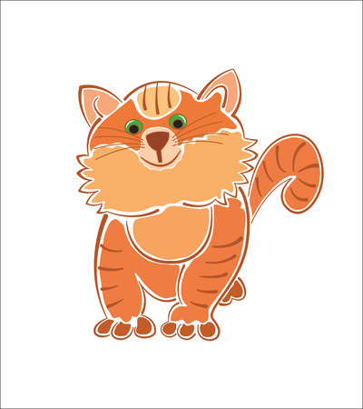 one of a kind: Thick fat ginger cat image isolated on white