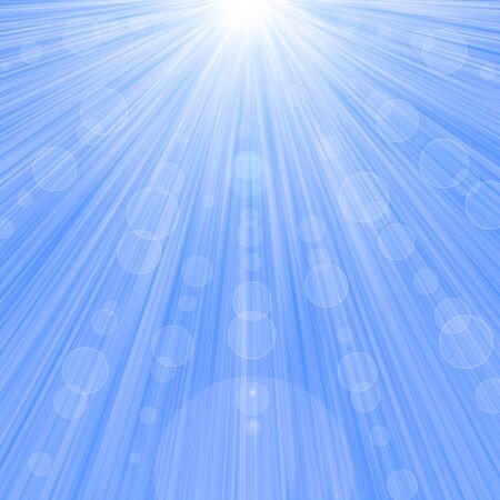heavenly light: Heavenly light blue bokeh background. Raster graphic image. Stock Photo