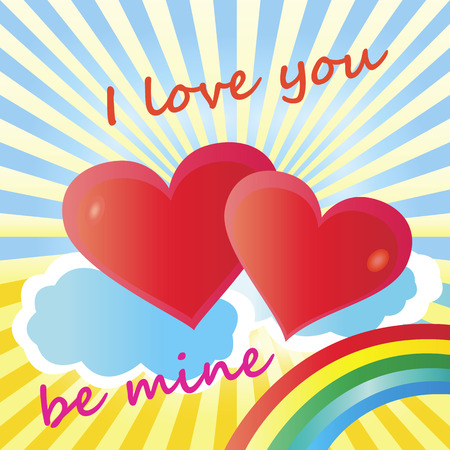 declaration: Holiday Valentine day greeting card declaration of love
