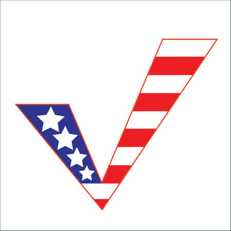 proceed: Check mark pattern of the flag of the United States of America.