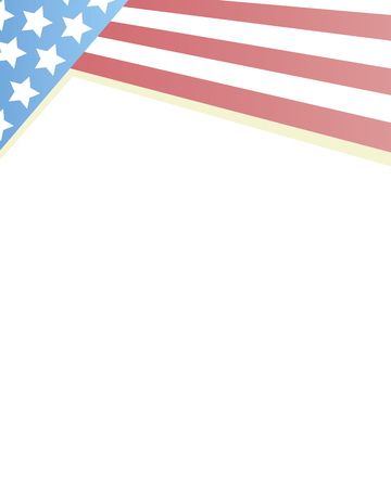 American flag pale frame background with blank space for text.