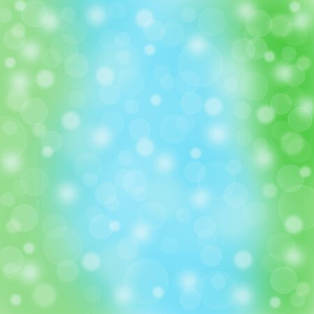 blurred motion: Abstract blue green background bokeh blurred motion raster illustration