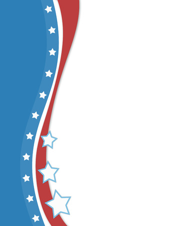 copy space: Abstract United States flag background with copy space for text. Stock Photo