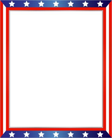 USA vlag frame op witte achtergrond met kopie ruimte voor uw tekst en afbeeldingen.