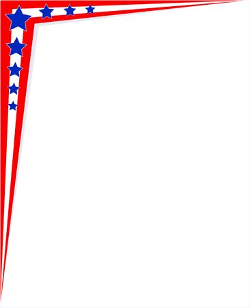 Angular frame abstract USA flag with copy space for your text for American design Ilustrace