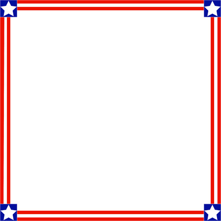 labor policy: Patriotic square American symbols of the frame with empty space for your text and images. Illustration