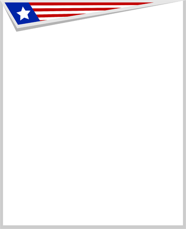 labor policy: Frame with copy space for text, stylized flag USA Illustration