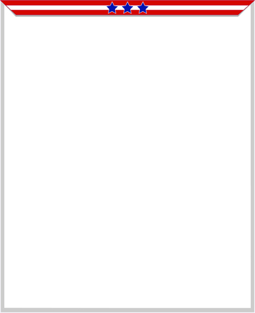 labor policy: Frame the form of abstract USA flag with blank space for your text. Illustration