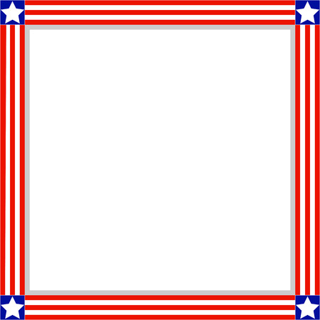 Patriotic American Flag Frame With Empty Space For Your Text ...