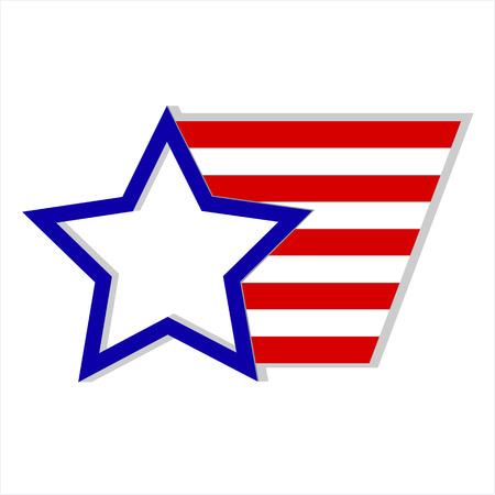 labor policy: United States of America flag logo symbol emblem Illustration
