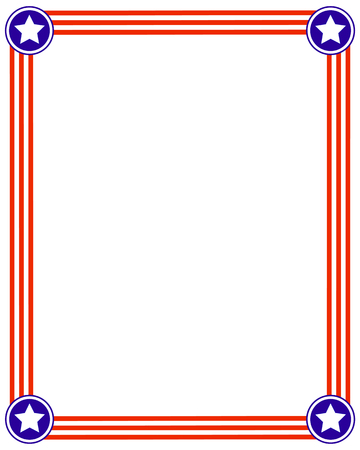 labor policy: Frame striped background with stars, design template American flag