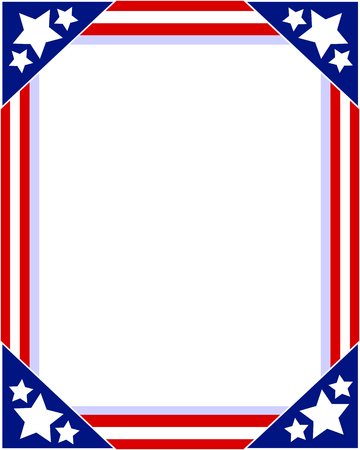 American flag Patriotic picture frame