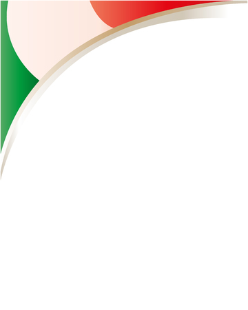 labor policy: Italian flag frame with empty space for text.