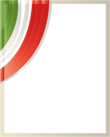 labor policy: Patriotic border with the Italian flag wave in the corner with blank space.