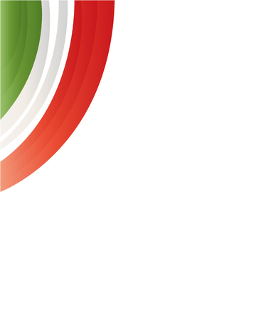 labor policy: Italian flag wave pattern on white background with copy space for text.