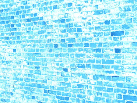 Blue brick wall grunge texture for your design Stock Photo