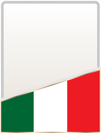 Italian Flag Frame With Empty White Space For Your Text Royalty Free ...