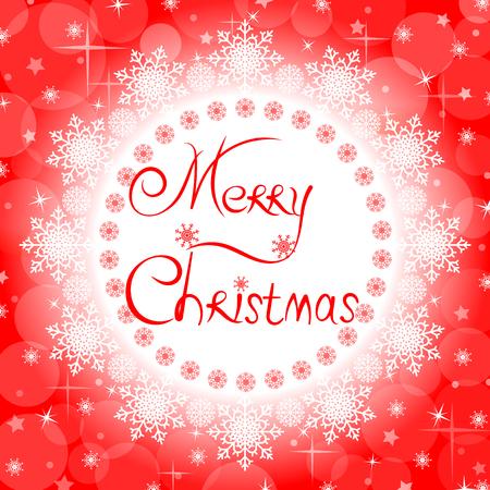 メリー クリスマスのあいさつが赤のクリスマス カード。