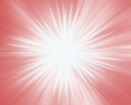 赤い星の背景の放射柔らかな光