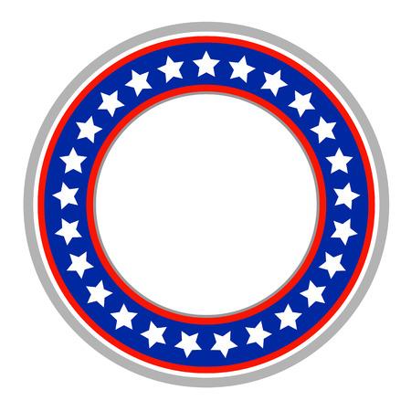USA symbols round frame logo emblem 向量圖像