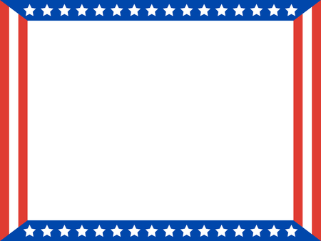 United States symbols border with blank space for text. Illustration