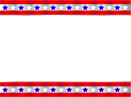 Frontière de bannière de cadre de symbole de drapeau des États-Unis Vecteurs