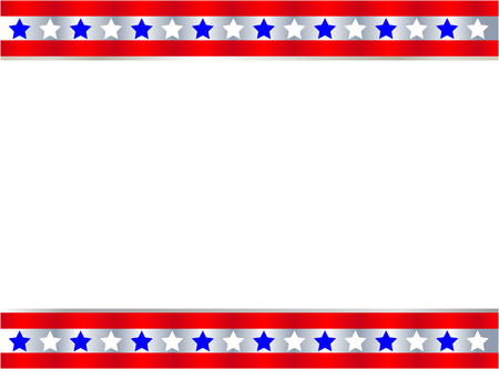 United States flag symbol frame banner border Illustration