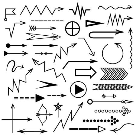 Different arrow set for your design. Illustration