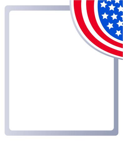 American flag Patriotic decorative frame