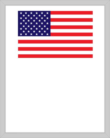 USA flag border frame with your text. Ilustração