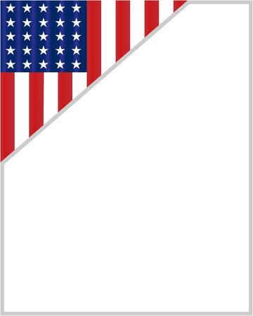 USA flag corner border for your text. Ilustração