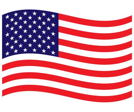 USA flag wave background Ilustração