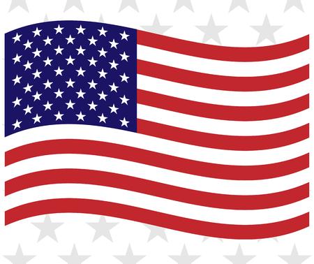 United States flowing flag Patriotic background wave pattern