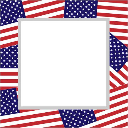 american abstract flag patriotic border