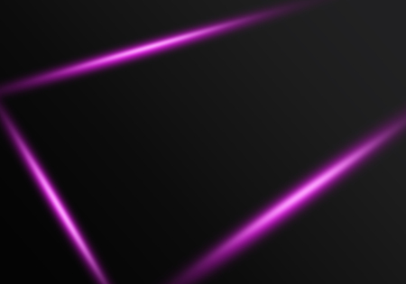 Abstract black background with purple light lines