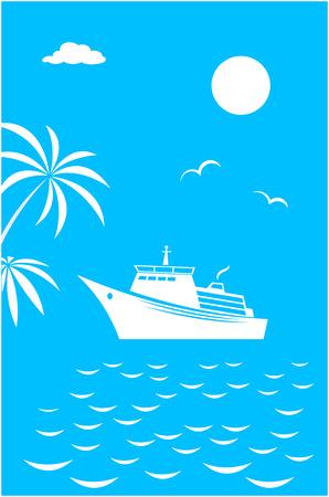 Sea ocean voyage vacation travel card banner