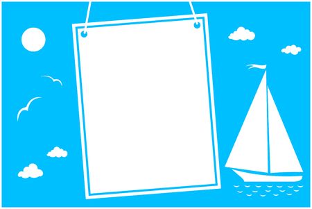 Summer vacation card with space for your text.