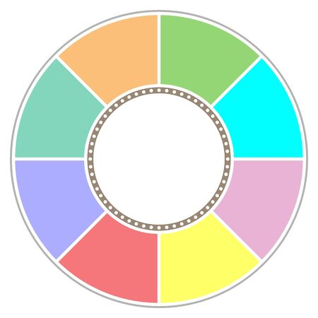 infographic design circle chart graph symbol for text