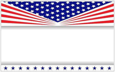 United States flag banner frame poster. Ilustração