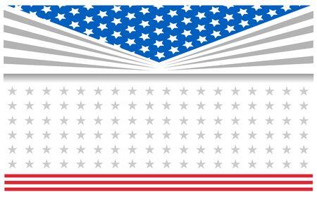 United States flag banner background Ilustração