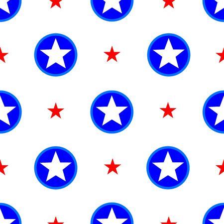 american stars seamless pattern Ilustração